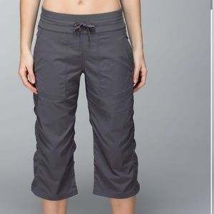 Lululemon Studio Crop Pant in Soot Light Charcoal Blue Gray Size 4